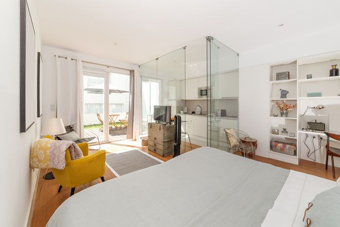 Claves de decoraci n para una cocina de concepto abierto - Cocina salon separados cristal ...