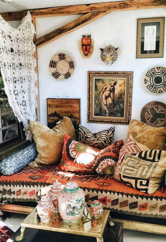 textiles afrioanos y cojines bohi