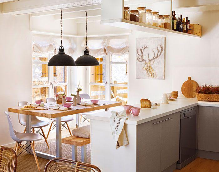 Claves de decoraci n para una cocina de concepto abierto for Separacion de muebles cocina comedor
