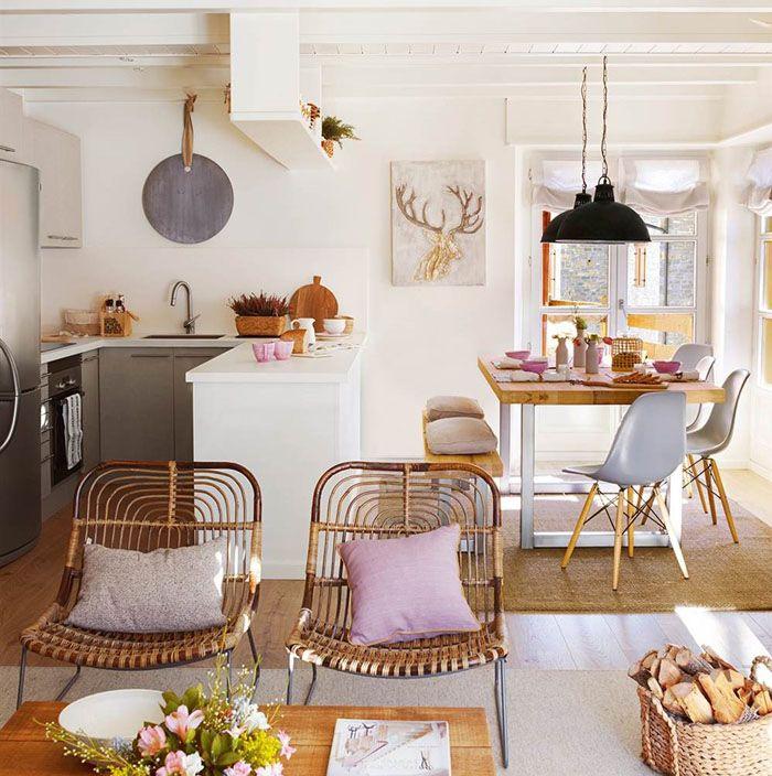 Claves de decoraci n para una cocina de concepto abierto for El mueble salon comedor