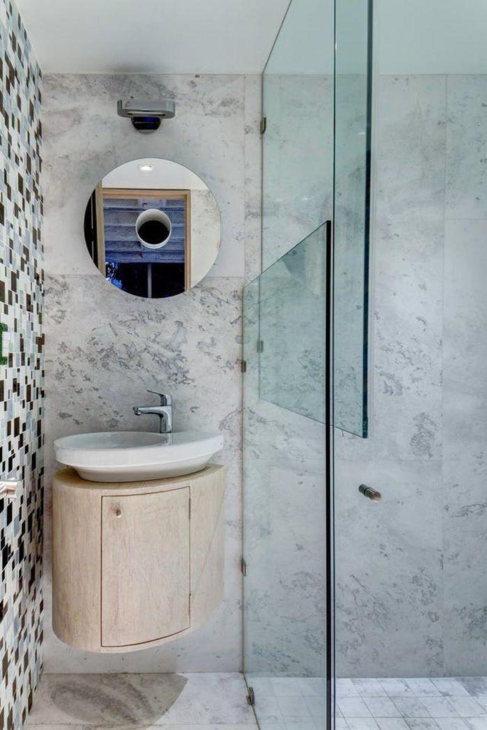 reforma baño pequeño con lavabo flotante