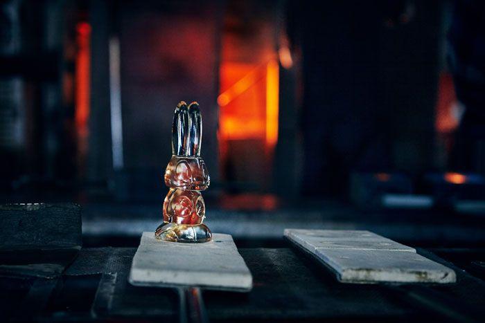 hornos vidrio a mano conejo