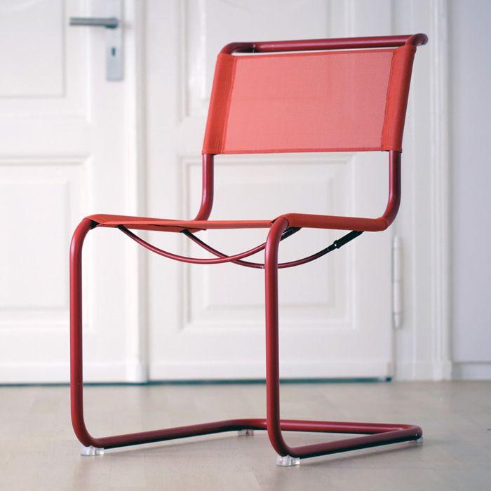 silla roja tubular mart stam