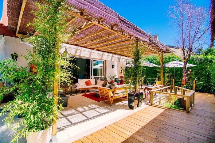 terraza de casa de huespedes portugal