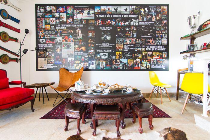sala de estar inspirada muay thai