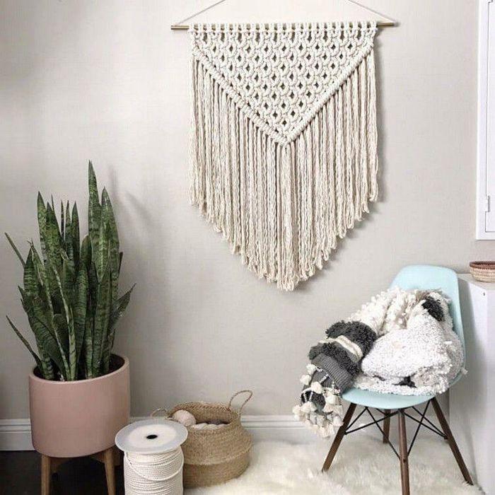 decoracion bohemi con tejido algodon