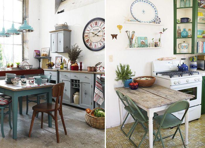 cocinas con objetos vintage decorativos