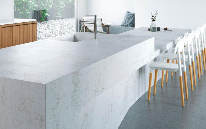 encimera blanca marmol dekton