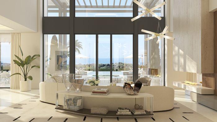 Diseño interior de una casa de lujo en Marbella