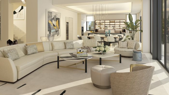 sala de estar vivienda lujosa en Marbella
