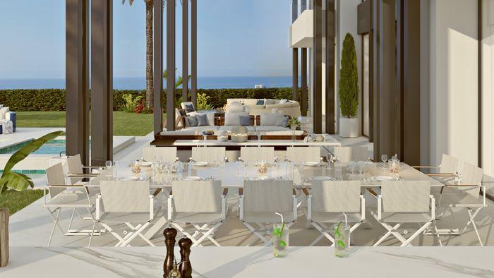terraza exterior vivienda lujosa en Marbella