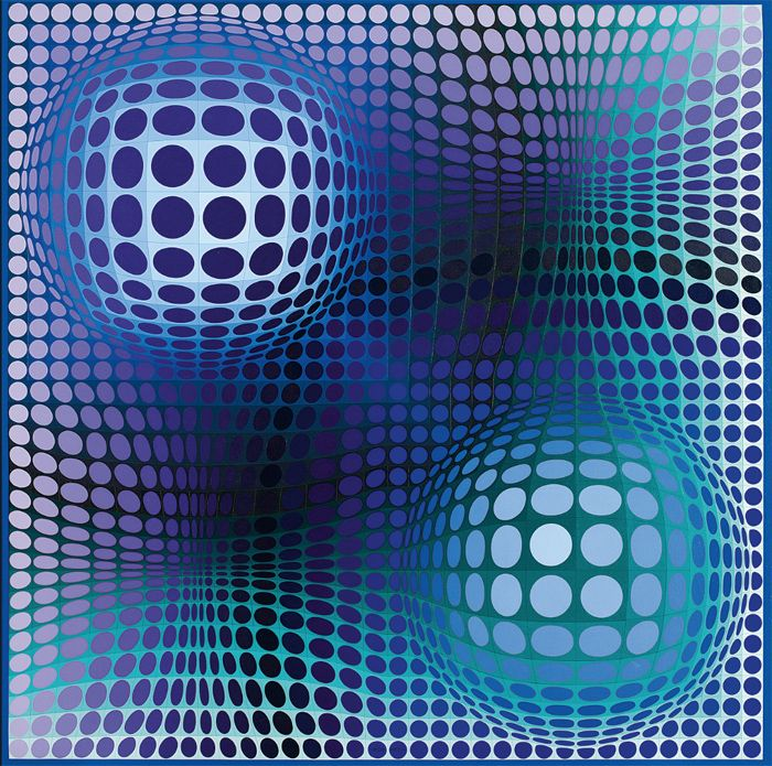 op art obra vasarely