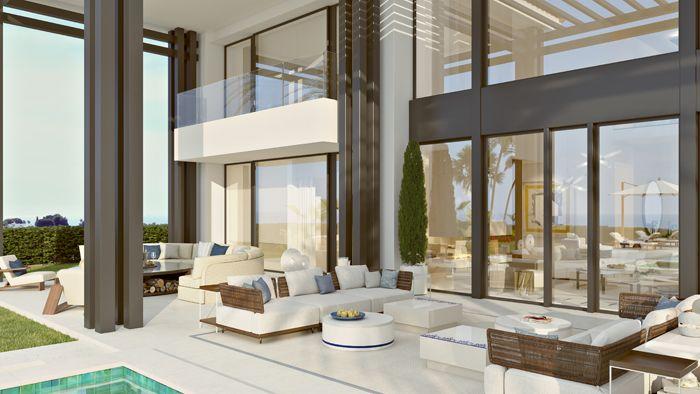 ventanales exterior vivienda lujosa en Marbella