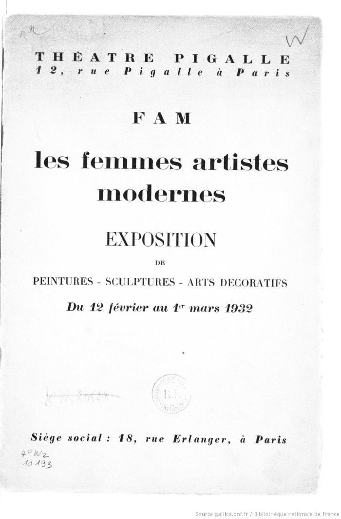societe des femmes artistes modernes