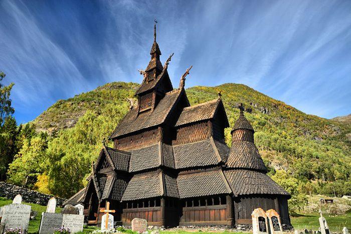 iglesia madera noruega