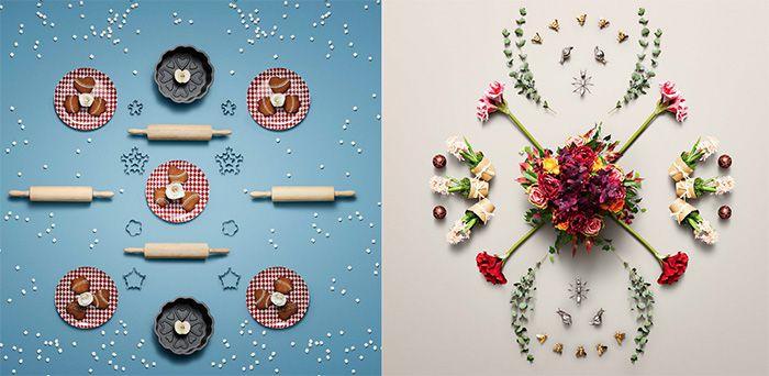 collage decoracion ikea navidad