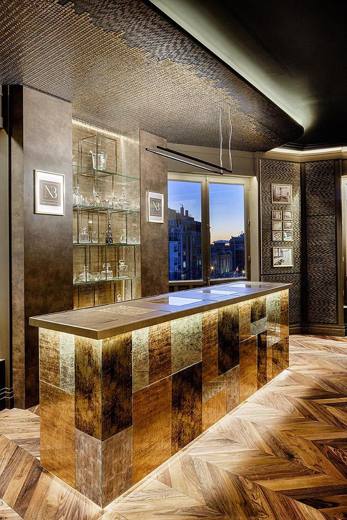 Bar sofisticado dorados grupo impar casa decor 2019