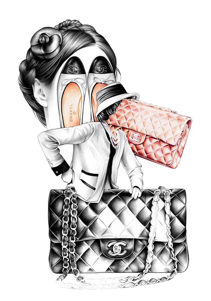 ilustracion clasicos bolsos de chanel