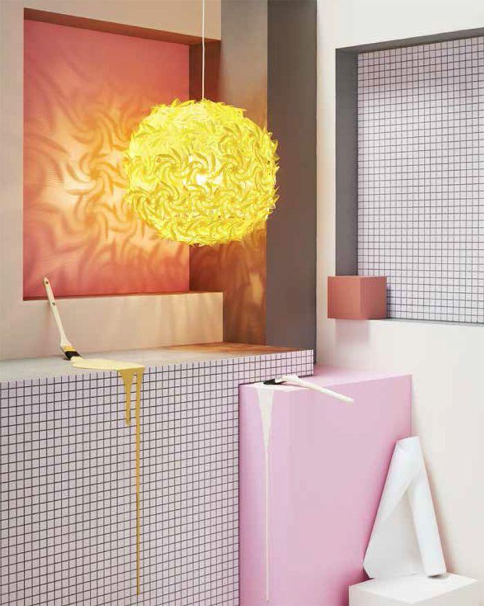 lampara esfera amarilla IKEA