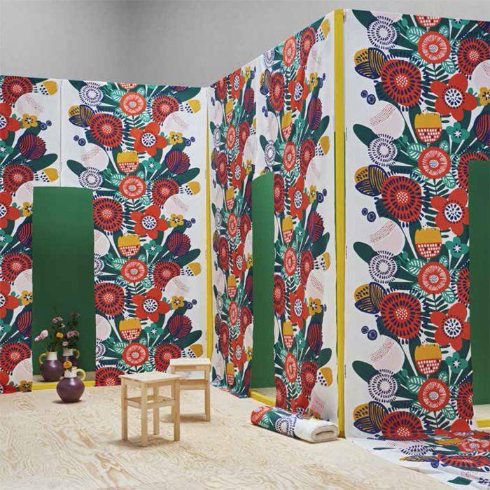 tela floral retro IKEA