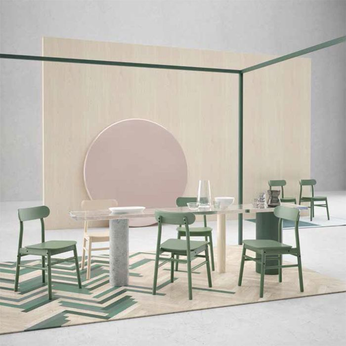 sillas verde palido retro ikea