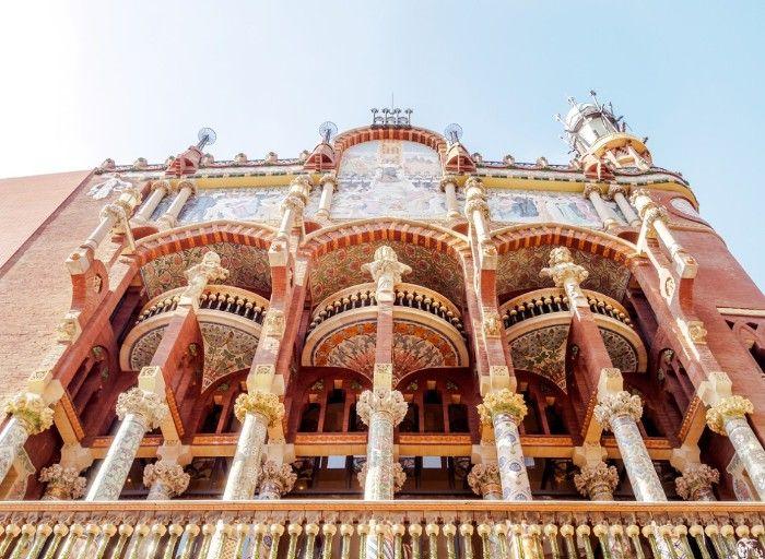 palacio de la musica catalana, arquitectura modernista