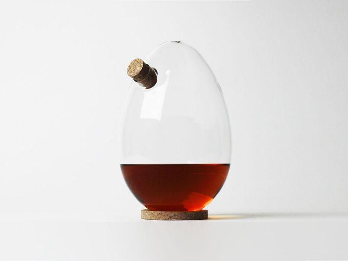 botella cristal huevo vidrio
