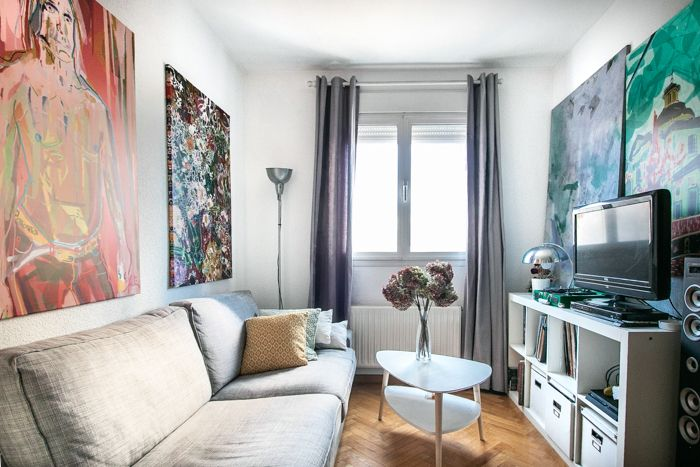 salon estilo nordico arte paredes
