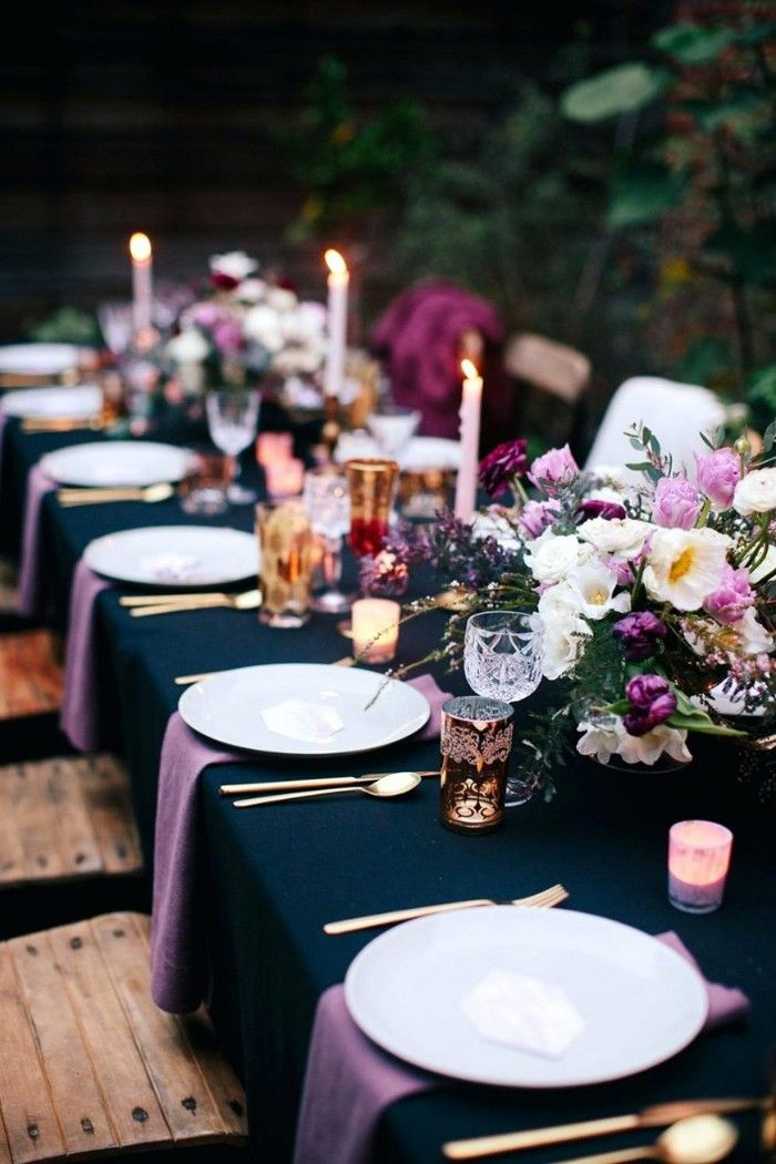azul real en decoracion bodas