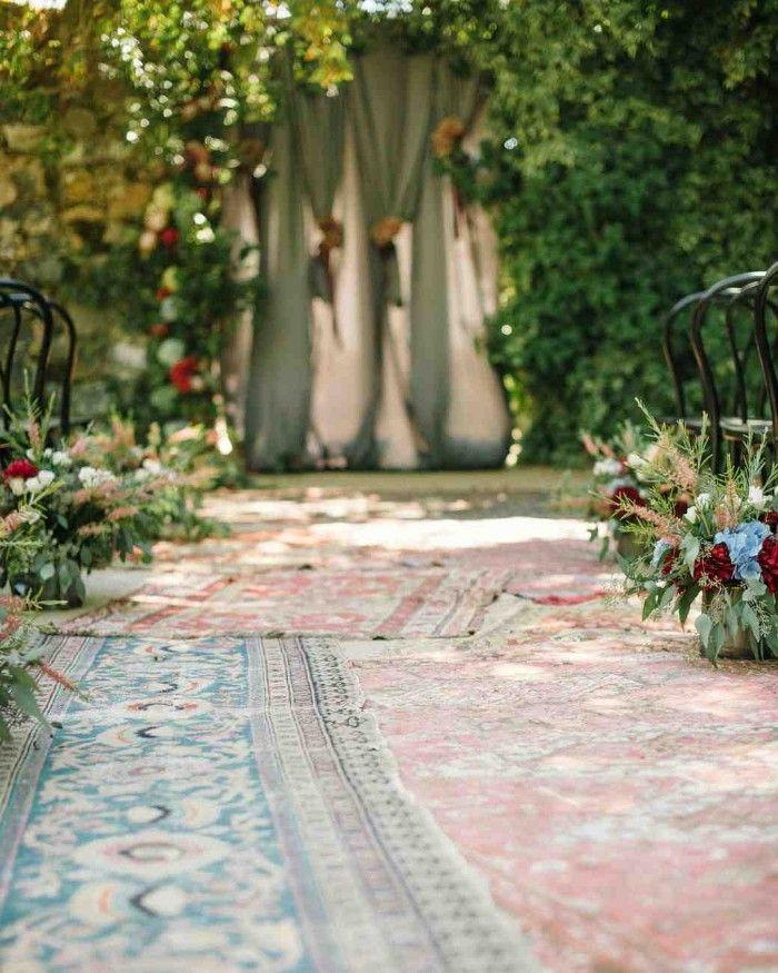 alfombras boda boho chic