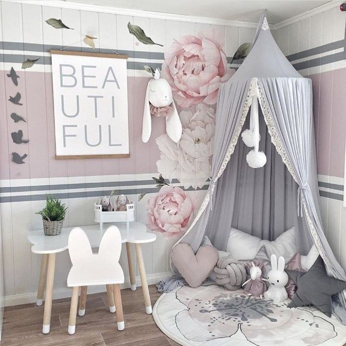 habitación infantil decoración telas impresas