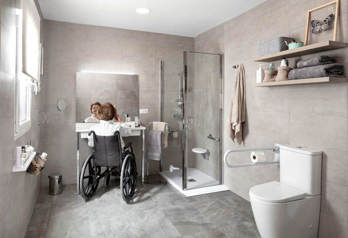 cuarto de baño accesible silla ruedas