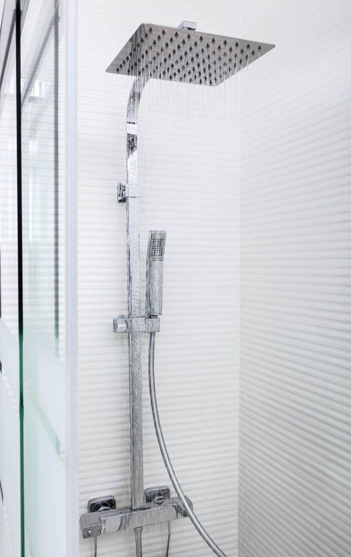 alcachofa ducha doble plateado