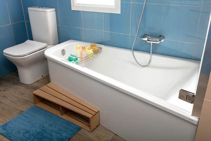bañera irregular y escalon madera para niños