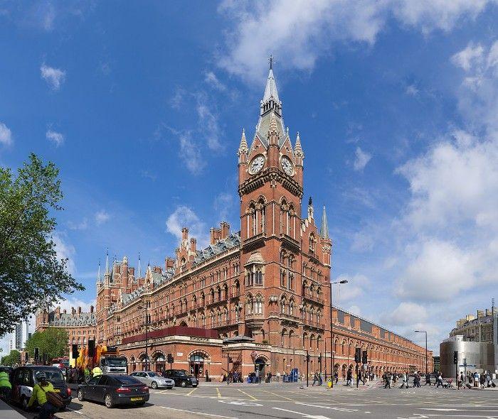 st pancras fachada arquitectura victoriana