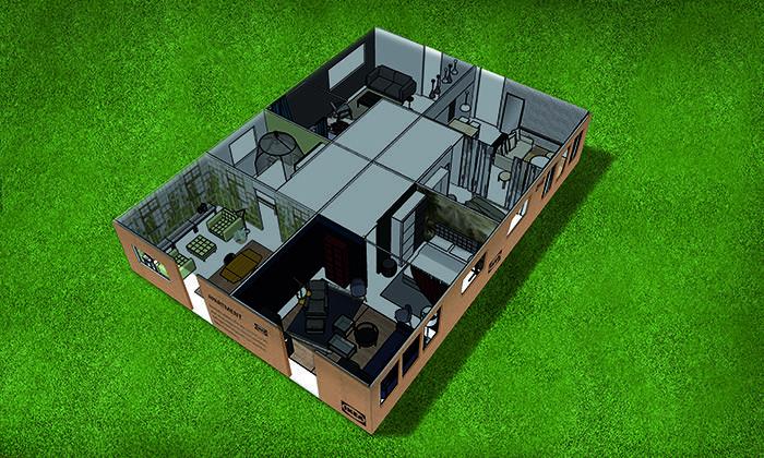 Render cuatro apartamentos IKEA para PS