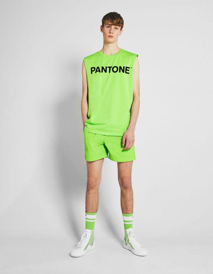 verde camiseta sin mangas