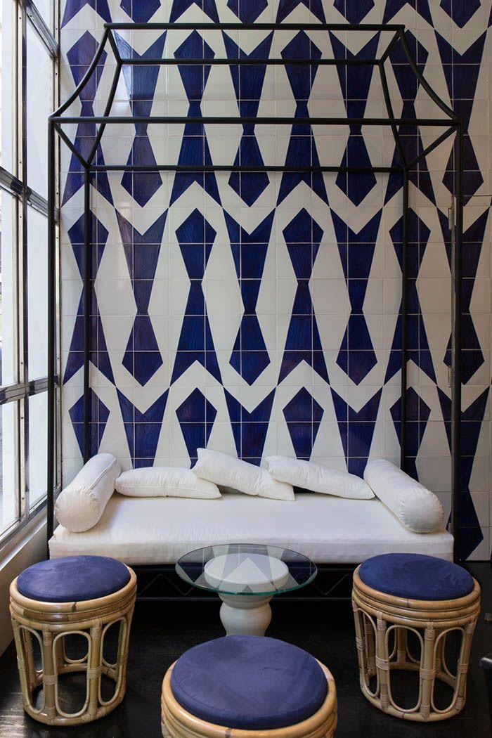 Cafe Larios diseño azulejos
