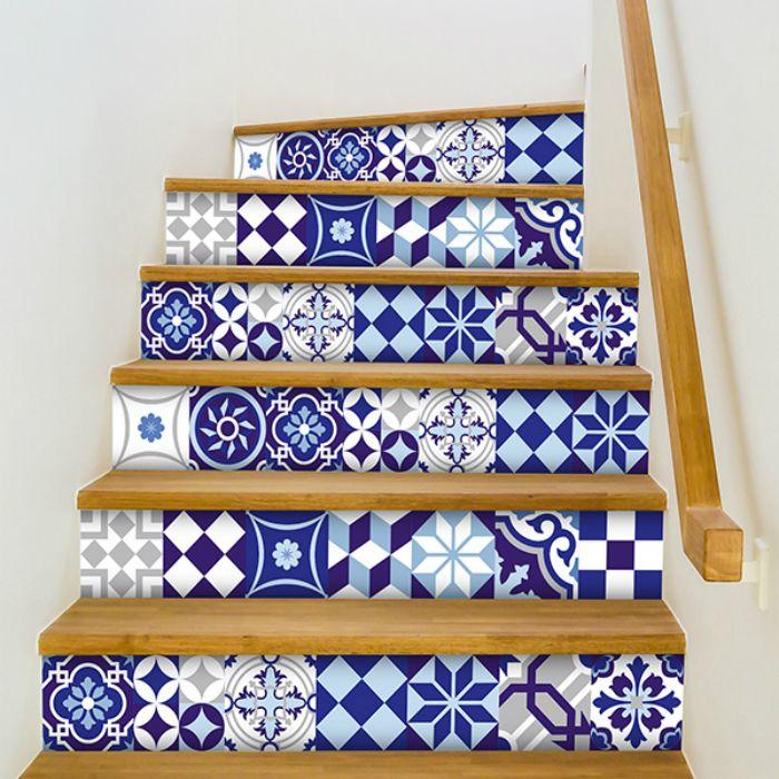 escalera azulejos personalizado vinilo