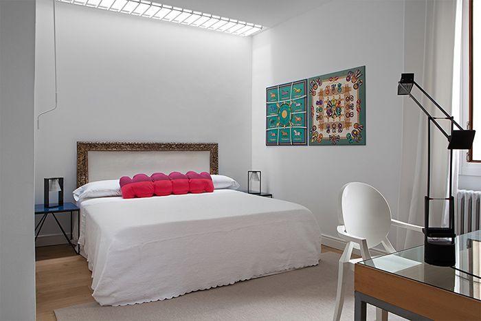 dormitorio doble cabecero marco dorado barroco sapey