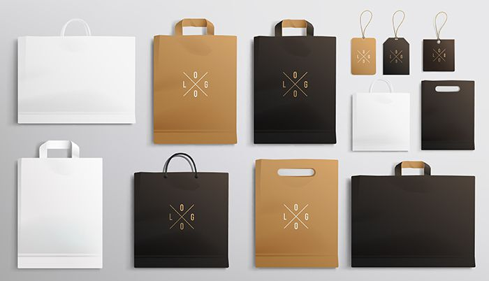 bolsas negocio diseño papel