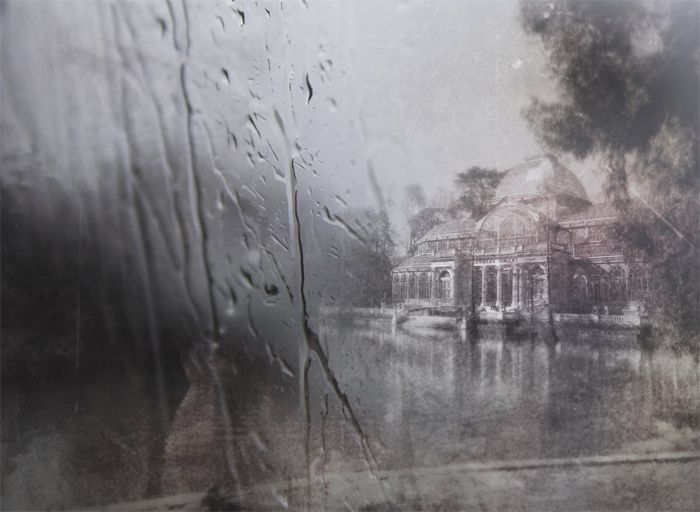 cristal lluvioso palacio madrid