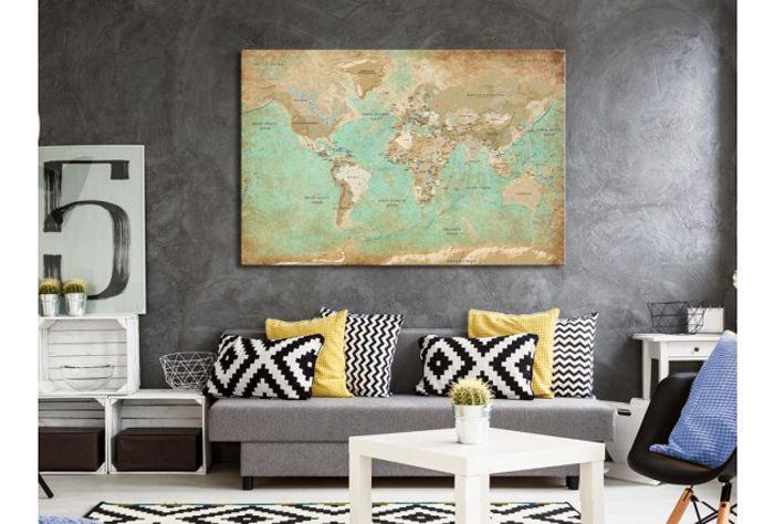 cuadro mapa del mundo