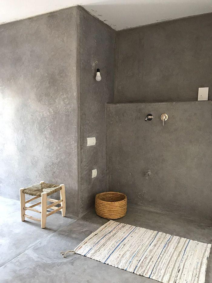 cuarto de baño hormigon