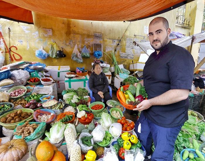 mercado verduras hanoi
