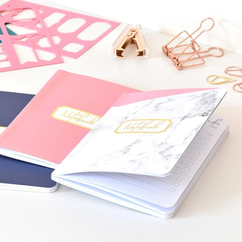 bullet journal marmol y rosa