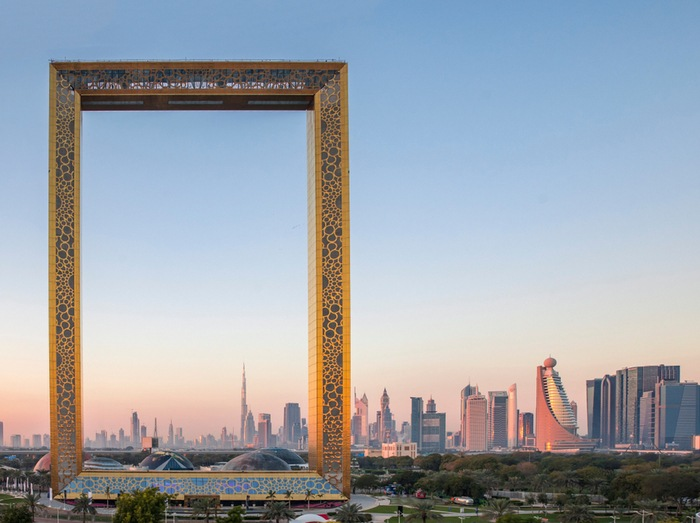 edificio marco emiratos arabes