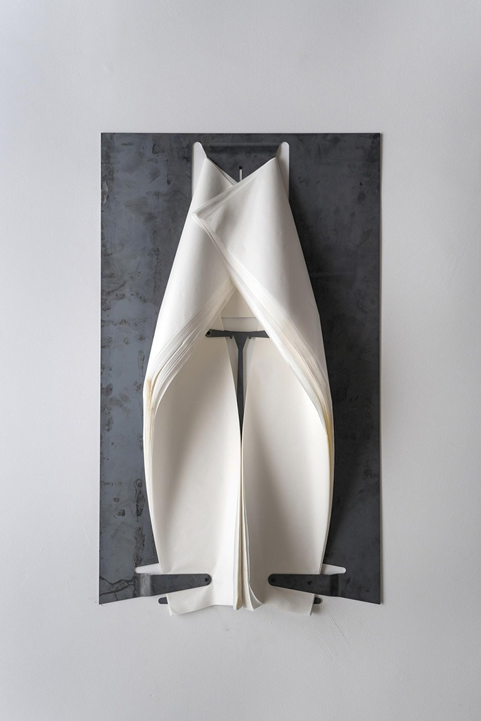 obra de arte velo blanco