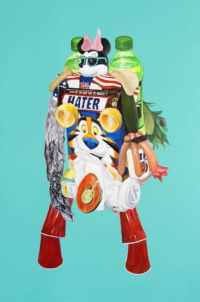Arte Contemporáneo figura collage pop frosties