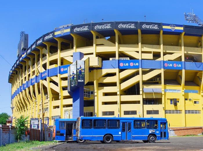 estadio futbol buenos aires amarillo azul